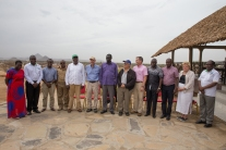 United States Ambassador to Kenya Bob Godec on 28th March 2017 with him are Turkana County Commissioner Stephen Ikua, Water and Irrigation Cabinet Secretary Eugene Wamalwa, Turkana Governor Koli Nanok, Agriculture Cabinet Secretary Willy Bett, Marsabit County Governor Ukur Yatani and USAID Kenya Country Director Karen Freeman. The U.S. Government launched three projects to boost economic growth and improve water, sanitation and hygiene services in Kenya worth $38 million. Photo Credit: USAID