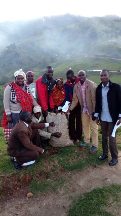Farmers in Embobut ward received certified seed (May 2018)