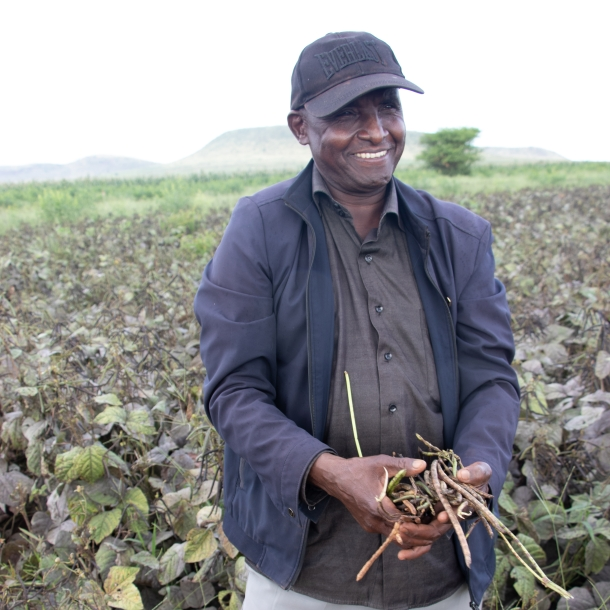 Drought tolerant crops farmer in Makueni County